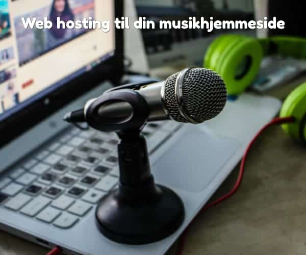 Web hosting til din musikhjemmeside