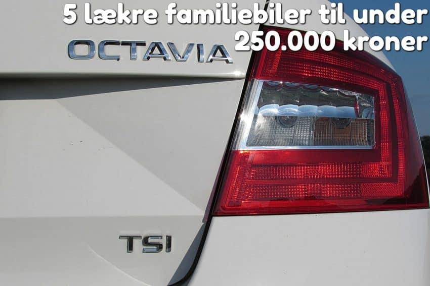 5 lækre familiebiler til under 250.000 kroner
